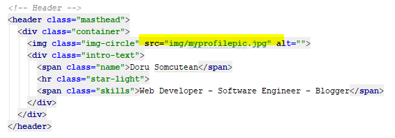 Change profile pic code