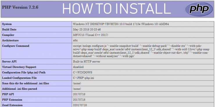 How To Install Php 7 2 On Windows D Blog