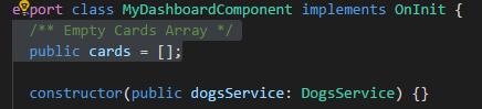 Define empty array variable