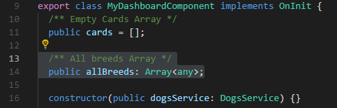 Declare array