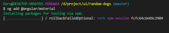 Add angular material to project