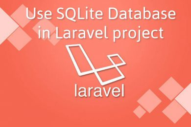 Use SQLite Database in Laravel project